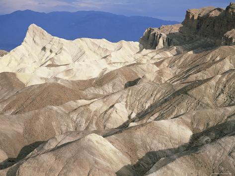 Zabriskie Point after Sunrise, Death Valley Badlands Landscape, California, USA Photographic Print