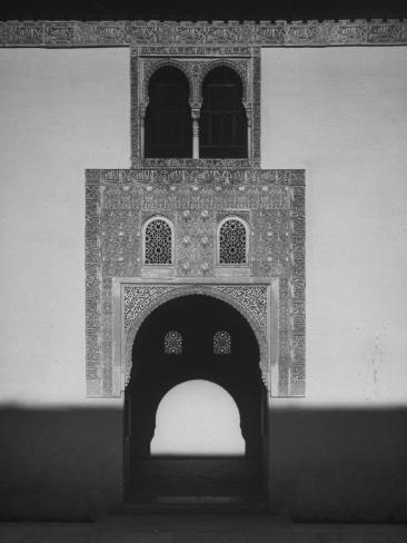 Court of Myrtles in the Alhambra, a 13th Century Palace of Moorish Kings Photographic Print