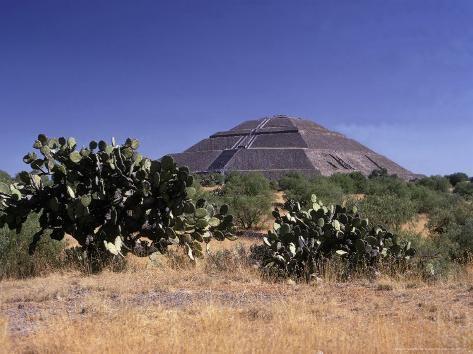 Pyramid of the Sun Photographic Print