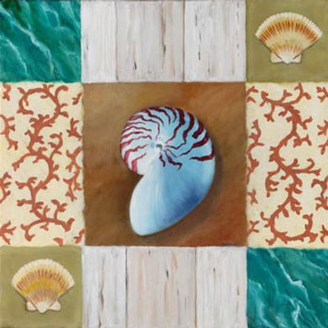Shell Collage III Art Print