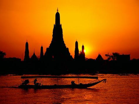 Temple of Dawn in Bangkok, Thailand Photographic Print
