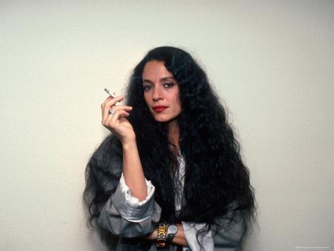 Actress Sonia Braga, Holding Cigarette Premium Photographic Print