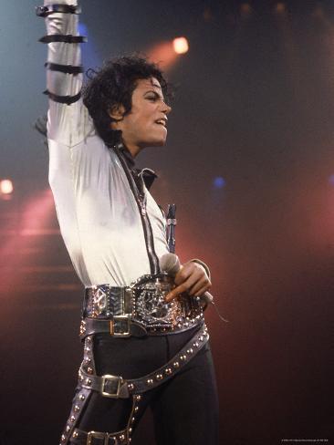Pop Entertainer Michael Jackson Striking a Pose at Event Premium Photographic Print