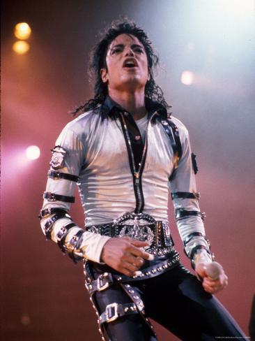 Singer Michael Jackson Performing Premium Photographic Print