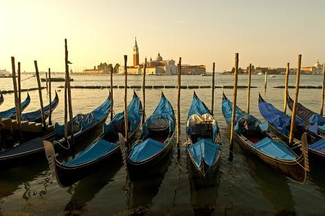 View of Canale di San Marco and with Gondolas, Venice, Italy Photographic Print