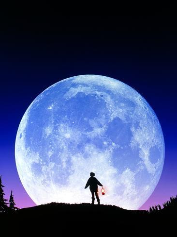 Full Moon Rising Photographic Print