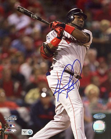 David Ortiz 2004 WS Game 4 Double Autographed Photo (Hand Signed Collectable) Photo