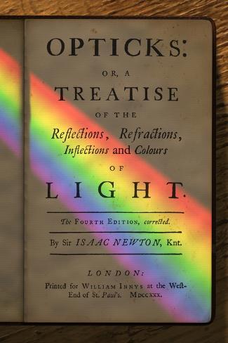 Newton's Opticks with Colour Spectrum Photographic Print