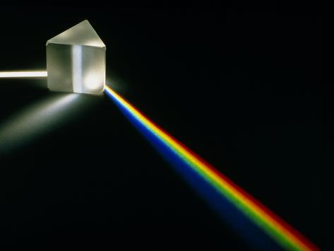 White Light Passing Through a Prism Photographic Print