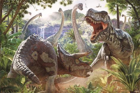 David Penfound- Dinosaur Battle Póster
