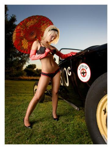 Hot Rod Pin-Up Girl Giclee Print