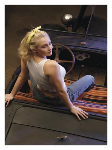 Hot Rod Pin-Up Girl Giclee Print
