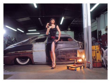Pin-Up Girl: 1951 Chopped Mercury Giclee Print