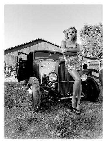 Pin-Up Girl: Street Rod Hula Giclee Print