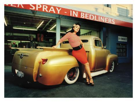 Pin-Up Girl: Truck Rod Rock a Billy Giclee Print