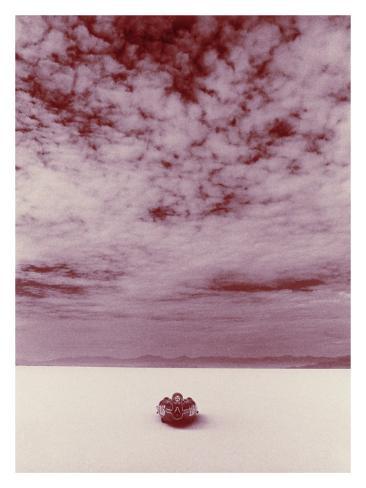 Salt Flat Land Speed Cloud Giclee Print