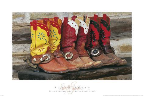 Ranch Boots Art Print
