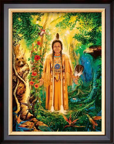 Divine Grandmother Framed Giclee Print