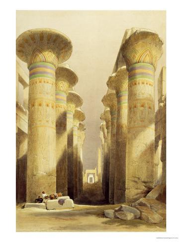 Central Avenue of the Great Hall of Columns, Karnak, from Egypt and Nubia, Vol.1 Giclee Print