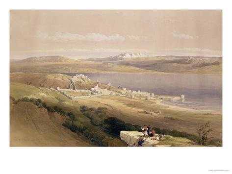 City of Tiberias on the Sea of Galilee, April 22nd 1839, Plate 38 from Volume I of