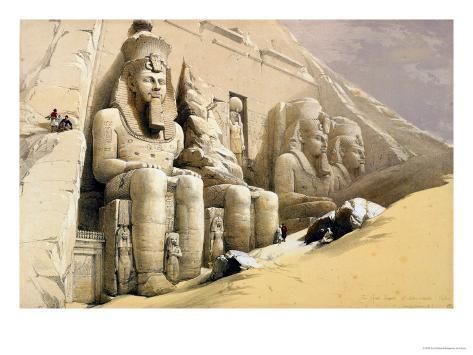 The Great Temple of Abu Simbel, Nubia, from