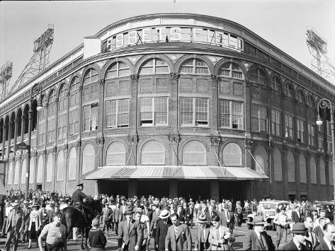 Fans Leaving Ebbets Field after Brooklyn Dodgers Game. June, 1939 Brooklyn, New York Photographic Print