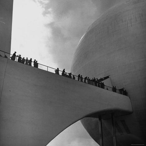 Visitors Inspect Democracity, The City of Tomorrow, at the New York World's Fair Photographic Print