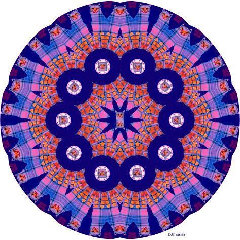 Cat Mandala X Giclee Print