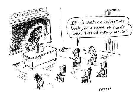 If it's such an important book, how come it hasn't been turned into a movi… - Cartoon Premium Giclee Print