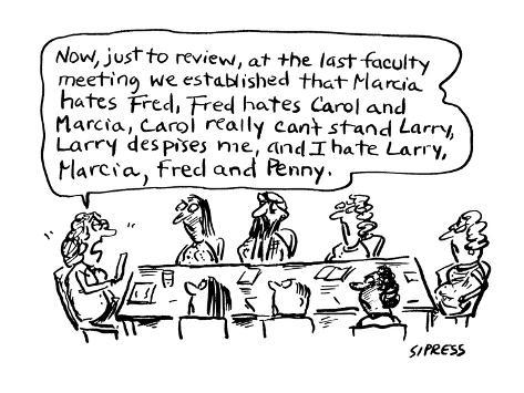 Now, just to review, at the last faculty meeting . . .' - Cartoon Premium Giclee Print