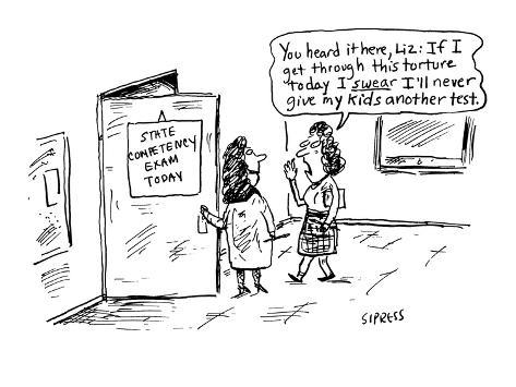You heard it here, Liz:  If I get through this torture today I swear I'll … - Cartoon Premium Giclee Print
