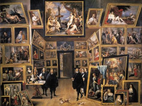 Archduke Leopold Wilhelm in His Picture Gallery Art Print