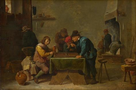 Backgammon Players, C. 1645 Lámina giclée