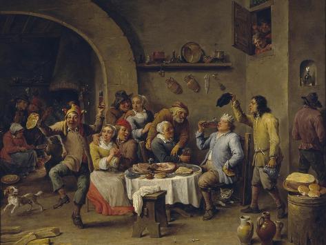 Twelfth Night Party, 1650-1660 Lámina giclée