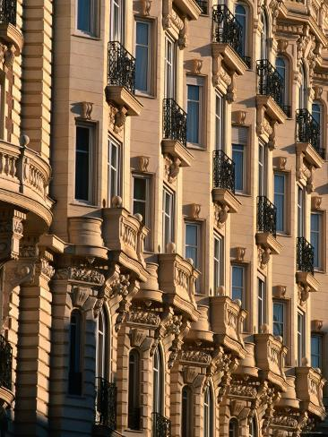 Ornamental Facade of Carlton Hotel, Cannes, France Photographic Print