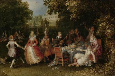 Garden Party (Fete Champetre) Art Print