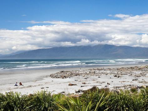 Beach at Westport, West Coast, South Island, New Zealand Photographic Print