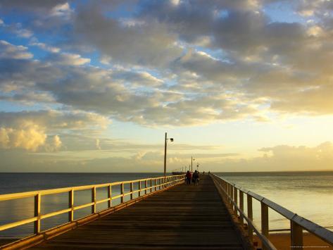 Early Light on Urangan Pier, Hervey Bay, Queensland, Australia Photographic Print