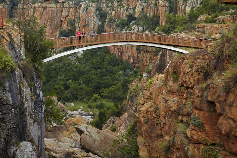 Footbridge over Blyde River, Blyde River Canyon Reserve, South Africa Photographic Print
