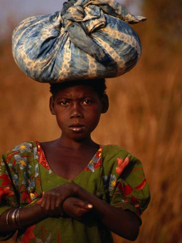 Girl Near Guinguette Springs, Looking at Camera, Bobo-Dioulasso, Burkina Faso Photographic Print