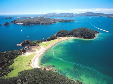 Motuarohia Island, Roberton Island, Bay of Islands, Northland, New Zealand Photographic Print