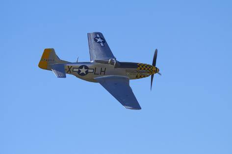 P-51 Mustang, American Fighter Plane, War Plane Photographic Print