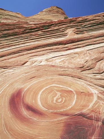 Sandstone Patterns in Rock Formations, Colorado Plateau, Utah, USA Photographic Print