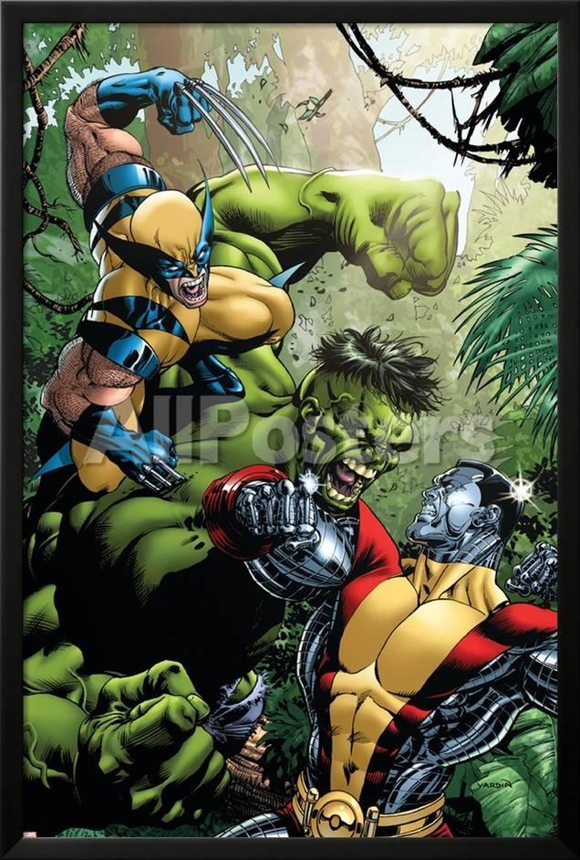 オールポスターズの デイヴィッド ヤーディン x men vs hulk no 1