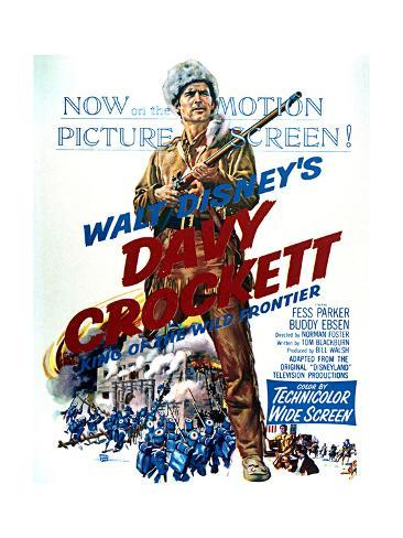 Davy Crockett: King of the Wild Frontier - Movie Poster Reproduction Art Print