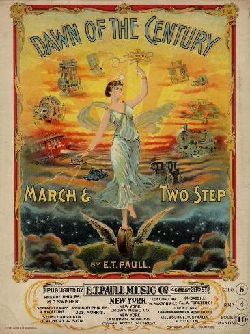 Dawn of the Century March & Two Step, Sam DeVincent Collection, National Museum of American History Stampa giclée premium