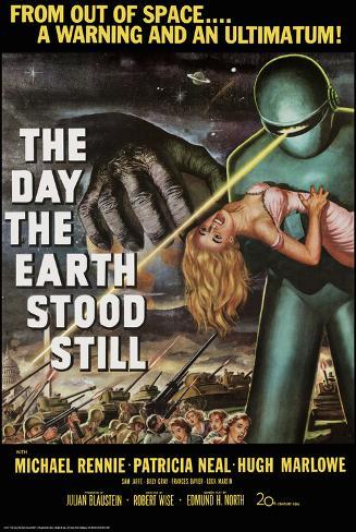 Day The Earth Stood Still Lamina Framed Poster