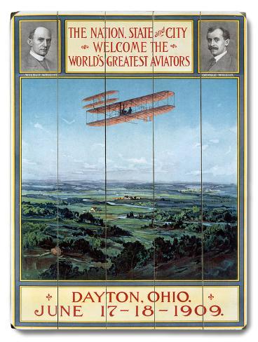 Dayton Ohio Air Aviation Show Wood Sign