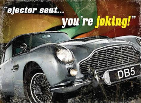 DB5 Ejector seat Tin Sign