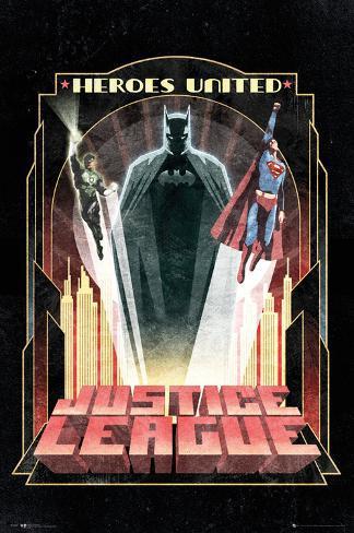 Dc Comics Batman Art Deco Prints Allposters Ca